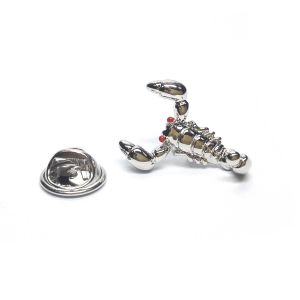 Scorpion with Red Eyes Lapel Pin Badge