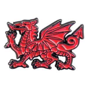 Welsh Dragon Wales Metal Enamel Lapel Pin Badge
