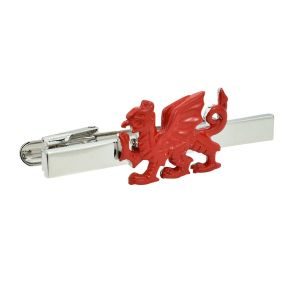 Red Welsh Dragon Wales Tie Clip